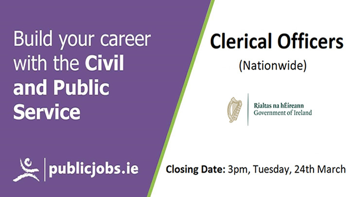 Clerical Officer Recruitment Campaign Open (Nationwide)