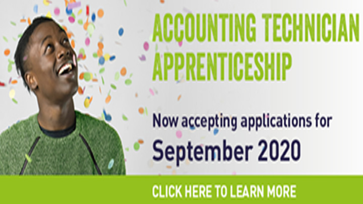 Accounting Technician Apprenticeship – Online Application Open for September 2020