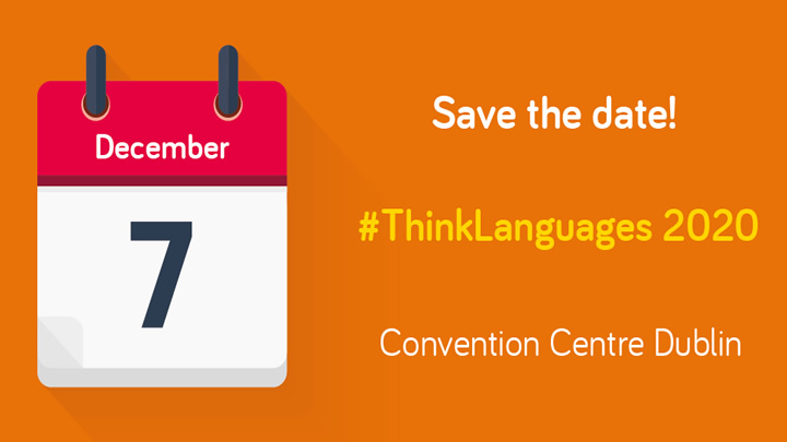 Save the date - #ThinkLanguages 2020